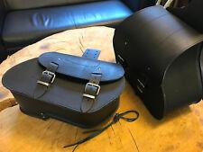 ARES BLACK Satteltaschen Set schwarz Seitenkoffer Harley Davidson Dyna Sportster