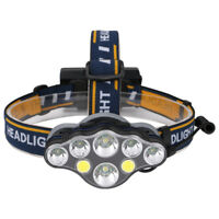 T6 XPE COB LED Headlamp USB Rechargeable Headlight 8 Lighting Modes Head Torch