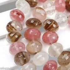 5x8mm Watermelon Tourmaline Faceted Loose Beads 15''