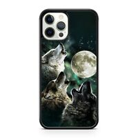 Majestic Howling Space Wolf Animals Elegant Full Moon Scenery Phone Case Cover