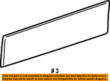 FORD OEM 03-05 Explorer FRONT DOOR-Body Side Molding Right 4L2Z7820878AAA