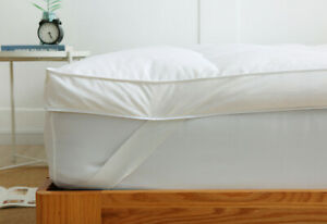 Super Soft Duck Feather 7cm Thick Mattress Topper Extra Deep All Sizes Available