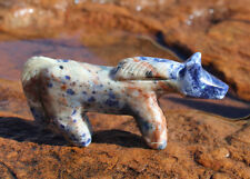 SODALITE HORSE FETISH by ERNEST MACKEL - ZUNI - NATIVE AMERICAN