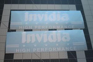 2X Invidia High Performance Racing Cars Parts Tuning Stickers Decals Vinyl
