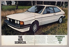 Volkswagen VW Scirocco 2-Page PRINT AD - 1977