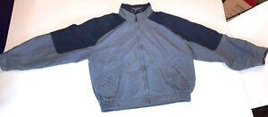 VINTAGE Royal Castle London Fog Jacket Gray & Blue Coat Mens Size Large Regular