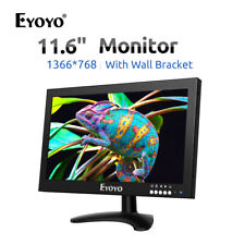 12 Inch LCD TFT VIDEO Monitor 1080P HDMI VAG BNC For PC CCTV Camera Raspberry Pi