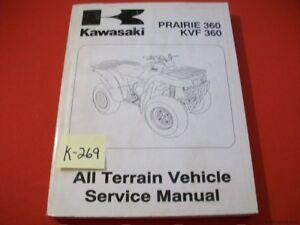 KAWASAKI ATV PRAIRIE 360 KVF 360 FACTORY SERVICE MANUAL #99924-1285-01 2003