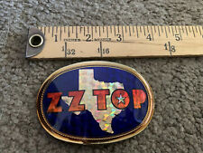 Vintage Zz Top 1978 Rare Pacifica Belt Buckle used Rock music Texas.chip