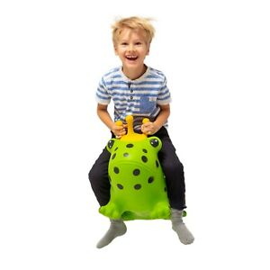 My First JUMPY Green Frog hopper hopping animal by Gerardo's Toys+pump included