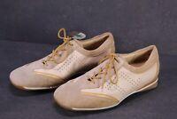 C1380 Theresia M. Damen Comfort-Schuhe Schnürschuhe Leder beige Gr. 36,5 (4 G)