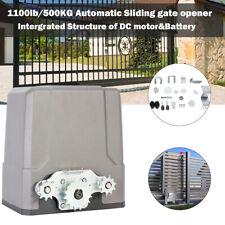 Remote Control Auto-sensing Driveway Sliding Gate Opener Dc Motor 1100lb/500kg