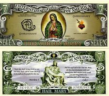 The Virgin Mary 7 Dollar Novelty Money