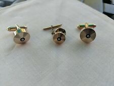 Vintage cufflinks and tie clip, beautiful