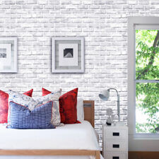 33ft White Brick Sticker Self Adhesive Wallpaper Vintage Vinyl Wall Paper Cover