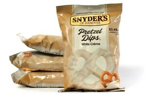 4 Bags Snyder's Of Hanover 6 Oz Pretzel Dips White Creme Best By 6/5/2021