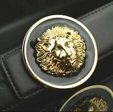 MENS DESIGNER BELTS LION FACE PIN BUCKLE FOR JEANS MEN LEATHER H BELT MEN S M L