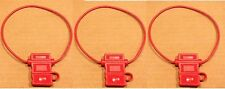 3 PACK 16 GAUGE ATC FUSE HOLDER IN-LINE AWG WIRE COPPER 12 VOLT W/ HINGED COVER