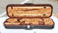 New Full Size Rectangular Deluxe Violin Case (4/4)