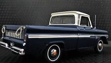 1 1960s Chevy Pickup Truck Sport Vintage Classic Car 24 Carousel Blue 18 Metal