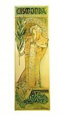 "ORIGINALE Vintage Art Nouveau Stampa Alphonse Mucha ""GISMONDA"" LIBRO Piastra"
