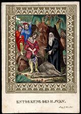 santino incisione 1800 B.IVANO DI BOEMIA  dip. a mano