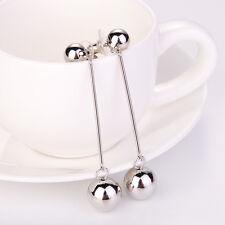 Women Gold Silver Ball Drop Dangle Tassel Earrings Ear Stud Long Chain Jewelry