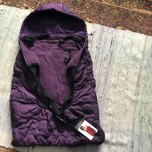 POGNAE baby carrier winter weather cover warmer Quilted Purple Fleece Lined NWT