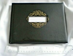 Black Guest Book Hallmark, Pre-Printed Tabs for Various Events Included