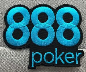 888 POKER IRON/SEW ON CLOTHING PATCH - 8 x 7 cm