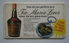 TIA MARIA LOVER HOW DO YOU PERFORM WHEN THE SUN GOES DOWN c1984 COASTER