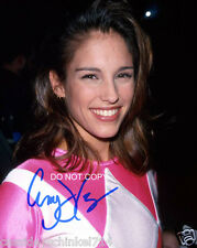Amy Jo Johnson reprint signed Pink Power Ranger photo #1 RP Flashpoint