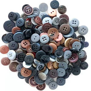 50Pcs Dark Color Mixed Resin Buttons for Sewing Clothes DIY Craft Decor 15-20 mm