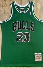 Michael Jordan Chicago Bulls Green Jersey Size 2XL Stitched New Wtags