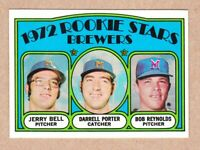1972 Topps #162 Brewers Rookies Porter Reynolds Bell NM Near Mint cond.