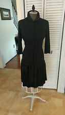 Rare Vintage 1940's Drop Waist Knit Dress, Pleated Skirt, Saks 5th Ave, Small