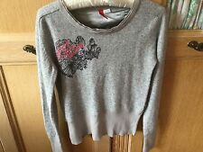 H&M jumper. Size 8. Light Grey with angora. A Lovely Jumper.