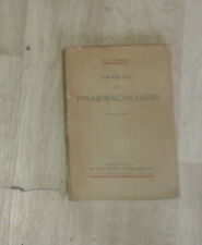 TIFFENEAU. Abrégé de pharmacologie. Vigot. 1941.