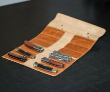 Leather pocket knife roll, Leather tool roll, tool bag, tool storage, tool case