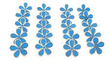 MASONIC SET OF 20 FLOWER FORGET ME NOT 15MM ENAMEL LAPEL PIN BADGES