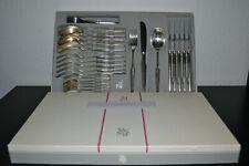 WMF-Patent-90er-45-Komplett-30 Tlg.Besteck-Gabel/Löffel/Messer-Silberauflage-OVP