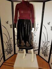 ZARA VELVET LOOK SKIRT Campaign Collection 6895/008 Black Size M