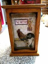 "Rooster Country Themed Cabinet w/Shelves 13""T x 7"" W x 8.5"" D"