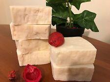Handmade Soap 5 Bars PURE OLIVE OIL 100% Organic Vegan Hot Process more than 6oz