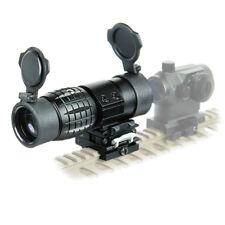 3X Magnifier Scope Sight/ Flip To Side 20mm QD Rail Mount / Lens Caps New