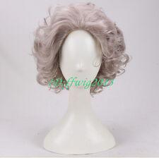 Madea Joe cosplay wig short curly grandma hair full wig +a wig cap