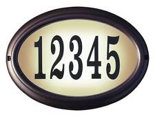 Edgewood, Lto-1302-Ac, Oval Lighted Address Sign in Antique Copper Frame Color
