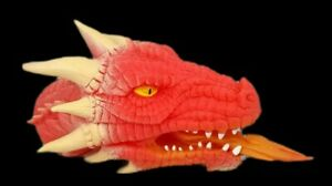 Red Dragon Schylling Ferocious Fire Breathing Soft Rubber Hand Puppet Medevil 3+