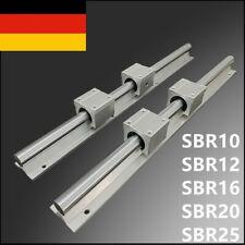 SBR12/16/20/10/25 Linearführung Gleitschiene + SBR12/16/20/10/25UU Linearblock