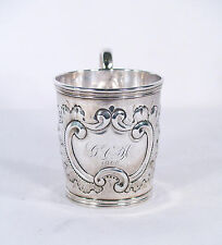 Antique Coin Silver Cup c.1868